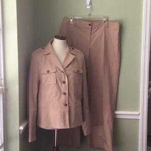 Apostrophe Beige Pant Suit Women's Size 16